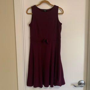 Maroon A-line dress